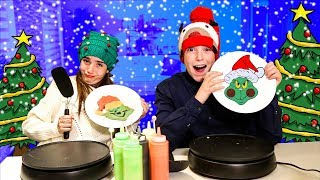 CHRISTMAS PANCAKE ART CHALLENGE!!