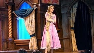 FULL SHOW Funny Princess Rapunzel (Tangled) at the Royal Theatre at Disneyland California