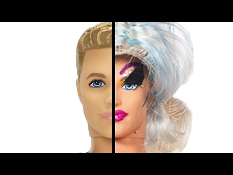 Drag Queens Give Ken Dolls Drag Makeovers