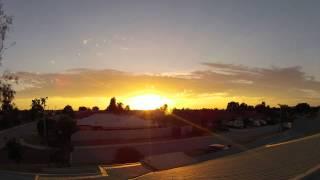 Australian Summer Sunset Time Lapse