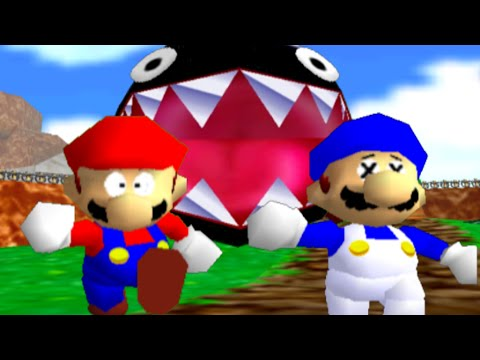 super mario 64 bloopers Who let the chomp out