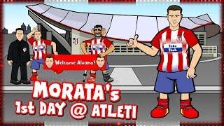 🤣MORATA's 1st DAY AT ATLETI!🤣 (Alvaro Morata signs for Atletico Madrid Parody Transfer)
