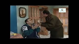 قصي خولي مع رئيس المخفر ابو عادل مشهد مضحك من مسلسل قلة ذوق و كترة غلبة
