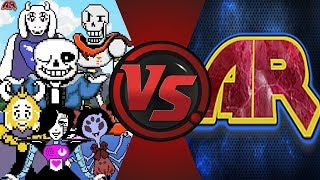 UNDERTALE vs ANIMATIONREWIND. . . Sans is tired of his fans | Comment Fight Club Episode 1