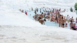 Swimming at Pamukkale Turkey | Памуккале Турция