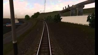 Авария неуправляемый грузовой поезд Trainz - YouTube