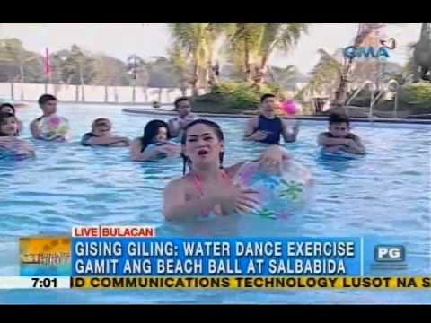 Fun water exercises with beach balls floaters Unang Hirit