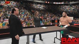 WWE 2K17 Story - Brock Lesnar vs Samoa Joe Contract Signing   Raw, June 26, 2017