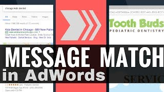 AdWords Message Match (Keyword + Ad + Landing Page) - KEY CONCEPT in AdWords