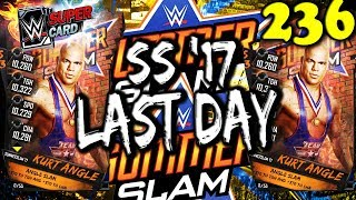 WWE SUPERCARD S3 #236 – FIRST SUMMERSLAM '17 EVENT CARD LAST DAY!! Kurt Angle RING DOMINATION
