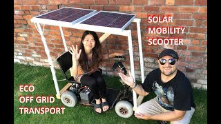 DuB-EnG: SOLAR Power Eco-friendly DIY Electric CAR Mobility Scooter Tesla Killer - make worlds first