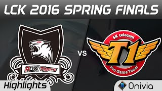 ROX vs SKT Full Bo5 Highlights LCK Champions 2016 Spring Finals KT ROX Tigers vs SK Telecom T1