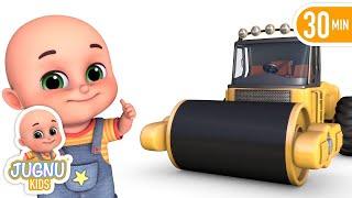 Surprise Eggs - Construction Truck Road Roller Toys for Kids - Surprise Eggs from Jugnu Kids