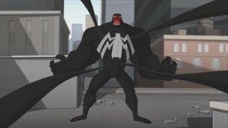 Spectacular Spider-Man (2008) Spider-Man vs Venom parade fight (1/3)