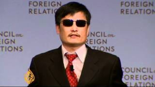 Chinese activist Chen speaks out in New York