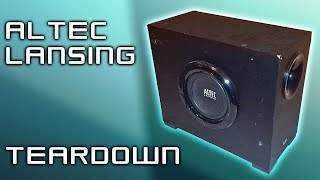 TEARDOWN - Altec Lansing VS2721 2.1 system subwoofer (Easy-medium difficulty)