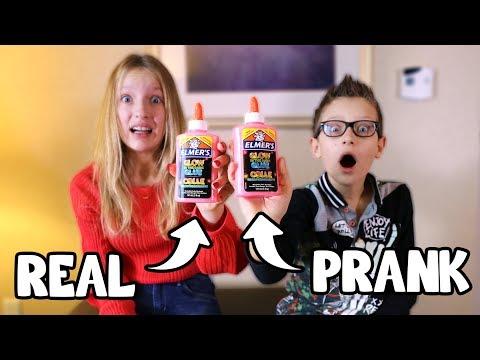 REAL vs PRANK SLIME CHALLENGE