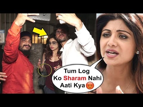 Shilpa Shetty Sister Shamita Shetty HARASSED By Fans Outside Salon