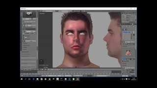 Blender 2.75 Male Face Modeling