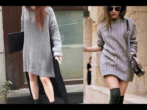 Cute Dresses For Women - 20 Style Tips On How To Wear A Sweater Dress This Winter