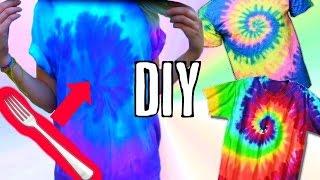 DIY   BATIK SHIRT selber machen   HOW TO   TIE DYE