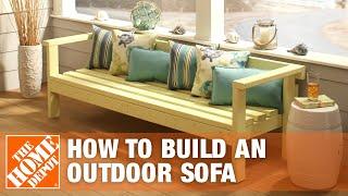 DIY Patio Furniture: Outdoor Sofa