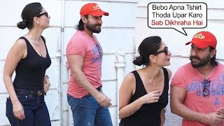 Saif Ali Khan Don't Interest to Take Picture Wife Kareena Kapoor In Front Of Media at Facebook Live