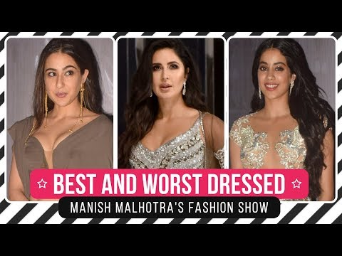 Xxx Mp4 Katrina Kaif Salman Khan Janhvi Kapoor Best And Worst Dressed From Manish Malhotra S Show 3gp Sex