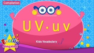 Kids vocabulary compilation - Words starting with U u, V v - Learn English for kids