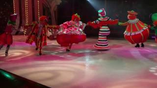 Comedy Joker Dance on Ice scating in Royal Caribbean Cruise Ship