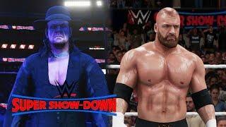 WWE Super Shown Down 2018 - The Undertaker Vs Triple H - WWE 2K18
