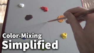 Color-Mixing Simplified #01 - Acrylic & Oil Painting Lesson