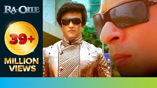 Rajinikanth 'Chitti' met Shah Rukh Khan 'G.One' | RA.One | Movie Scene