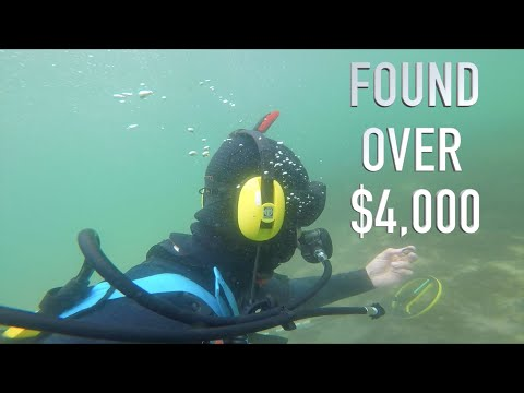 Found 5 000 Buried Treasure NO POLICE ASSISTANCE Underwater Metal Detecting GOLD