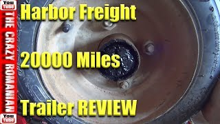 Cheap $199 Harbor Freight TOOLS Trailer with 20000 miles on it - BASIC maintenance