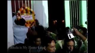 ভোলায় কেন্দ্রীয় শহীদ বেদীতে মানুষের ঢল