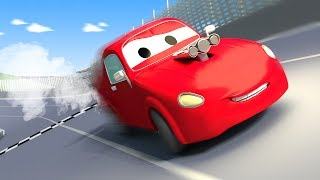 Tom The Tow Truck and Jerry the race car in Car City | Cars construction cartoon for children