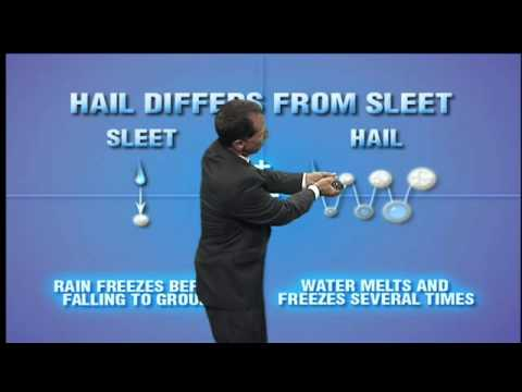 What is the difference between sleet and hail?