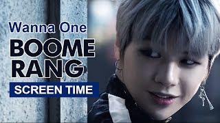 """Wanna One """" BOOMERANG """" Screen Time Distribution 各成員MV畫面時間統計 워너원"""