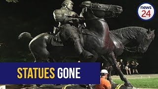 WATCH: Baltimore removes Confederate statues overnight