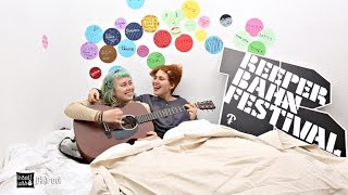 Girlpool - Chinatown  - acoustic for In Bed with at Reeperbahn Festival 2015
