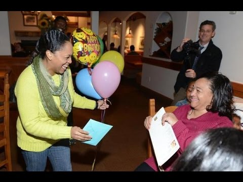 Soldier surprises mother at Rock Hill restaurant after 16 months away.
