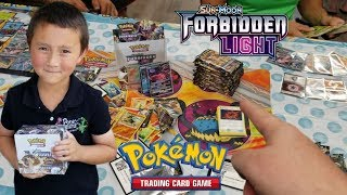 BIGGEST POKEMON CARD BOOSTER BOX BATTLE EVER! Forbidden Light Launch Party At Psycho Turtle! Part 1
