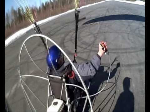 Paramotor practice trike rear wheel driven
