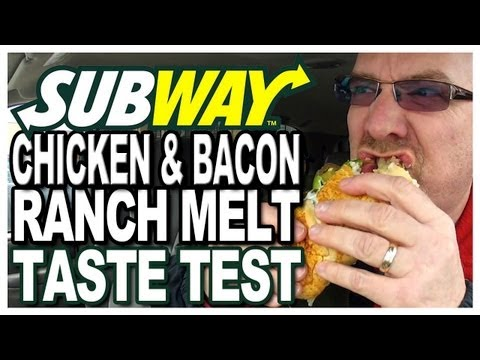 Subway Chicken & Bacon Ranch Melt Taste Test | KBDProductionsTV