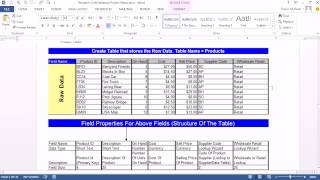 Office 2013 Class 47: Access 2013: Create Database, Import Excel, Create Table, Forms, Relationships