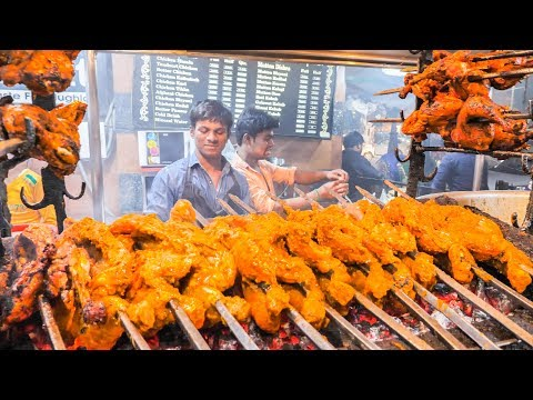 INDIAN STREET FOOD Tour in LUCKNOW with MONSTER BBQ CHICKEN and CHEAP SPICY CURRY