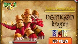 Dragon City - Demigod Dragon [Exclusive VIP Dragon   Only $20 Bucks]