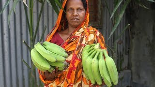 Village Food | Green banana cutlet recipe | Ramadan recipe | Grandmother recipes-58
