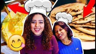 طريقة عمل العيش الشامي و الكعك  و الحمص | فطور عربي في لندن | جنى فلوقز
